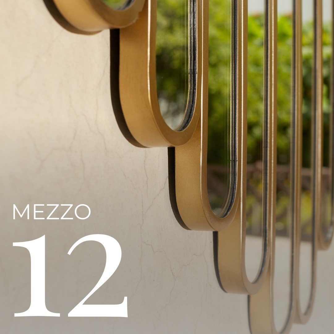 """Just like a perfect harmony, the symmetrical panels of this unique mirror makes it a vision to behold.  THE MEZZO 12  MIRROR  DIMENSIONS: L39"""" W39"""" D1""""  FINISH OPTIONS:  Black / Antique brass   #SageLiving  . . . . . . . . . . . . . . .  #moderndesign #homedecorinspi #contemporarydesigns #luxurydesigns #newdesign #modernlivingspace #luxuryhomes #modernfurntire #instainteriors #archdaily #interiordecor #instadesign #interiorstyle #vanitymirror #indoormirror #neutralhomedecor #luxurydesigns #luxurystyle"""