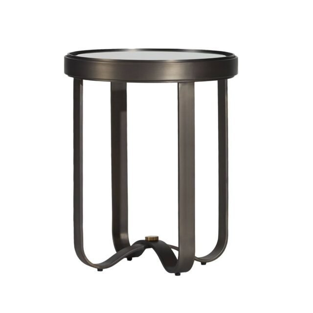 """A perfect addition to your decor with its sleek and minimal look.  THE ARC SIDE TABLE  DIMENSIONS: D 20"""" x H 25"""" FINISH: GUNMETAL  SHOP NOW: www.sageliving.in #SageLiving #welovesage   . . . . . . . . .  #moderndesign #homedecorinspi #contemporarydesigns #luxurydesigns #newdesign #modernlivingspace #luxuryhomes #modernfurntire #instainteriors #archdaily #interiordecor #instadesign #interiorstyle #vanitymirror #indoormirror #neutralhomedecor"""