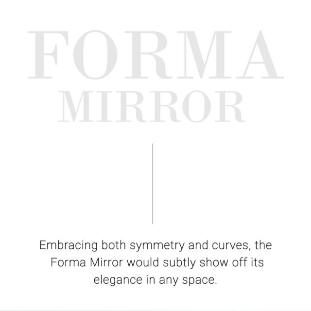 """The Forma Mirror is a beautiful statement piece that adds a so much depth to your homes.  DIMENSIONS: W 22"""" x H 35"""" x D 1.25""""  SHOP NOW: www.sageliving.in #SageLiving #WeLoveSage   . . . . . . . . . . . .  #modernlivingspace #luxuryhomes #modernfurntire  #archdaily #interiordecor  #interiorstyle #vanitymirror #indoormirror #neutralhomedecor #interiorstyling #modernhomes #luxuryfurnituredesign"""